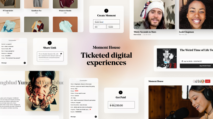 Jared Leto, Scooter Braun and Troy Carter are backing Moment House, a startup recreating are residing events… digitally